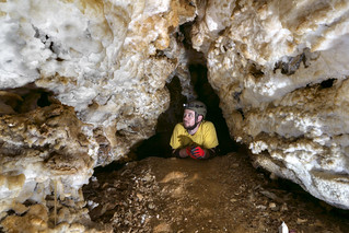 Chuck Sutherland, Crystal Chasm, Cumberland Caverns, Warren County, Tennessee