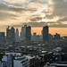 Panorama of the City of London from Michael Cliffe House (winter 2013)