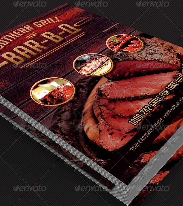 Grill And Barbecue Restaurant Menu Template The Grill And