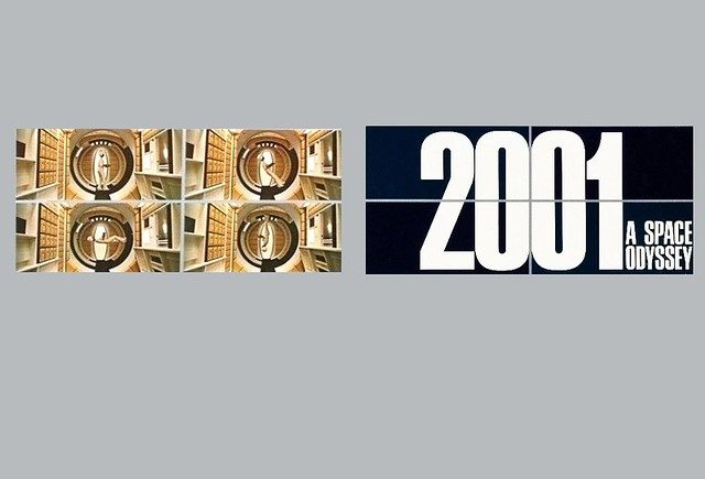 2001: A Space Odyssey  (1968 / Metro-Goldwyn-Mayer) front & back covers