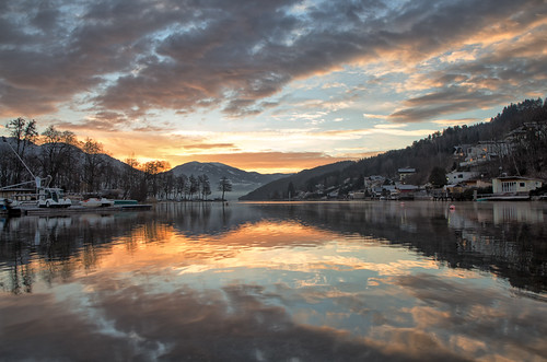 sunrise austria seeboden refelection clouds beautiful amazing canon eos 700d rural countryside