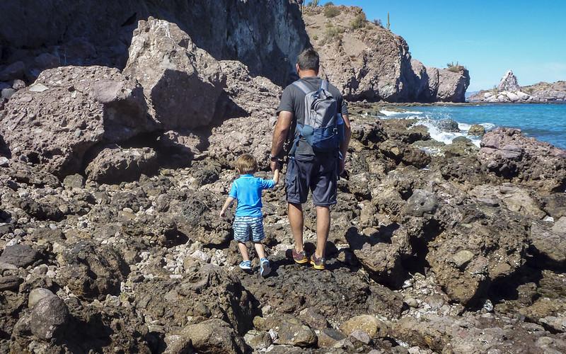 Aqua Verde rocky beach