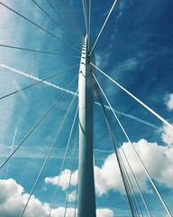 Lines in the sky #utrecht #prinsclausbrug #sky #clouds #cloudporn #lines #blue