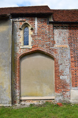 blocked south transept arch