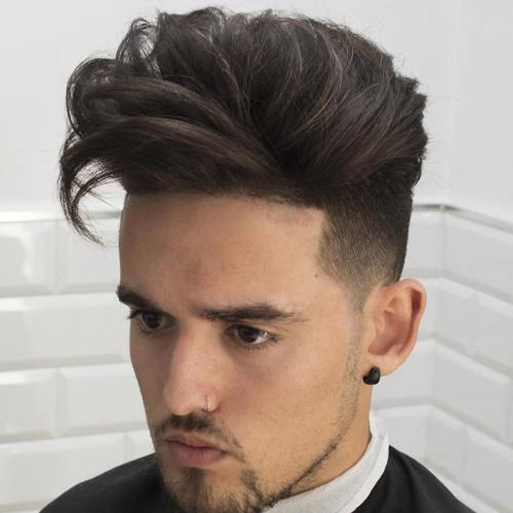 2018 Mens haircuts Long top undercut for guys