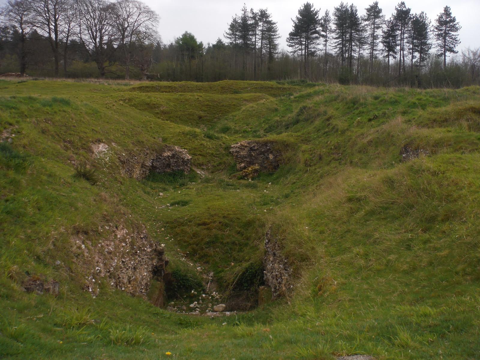 Wine Cellar remnants, Clarendon Palace SWC Walk 265 - Dean to Mottisfont and Dunbridge (Alternative Start from Salisbury)