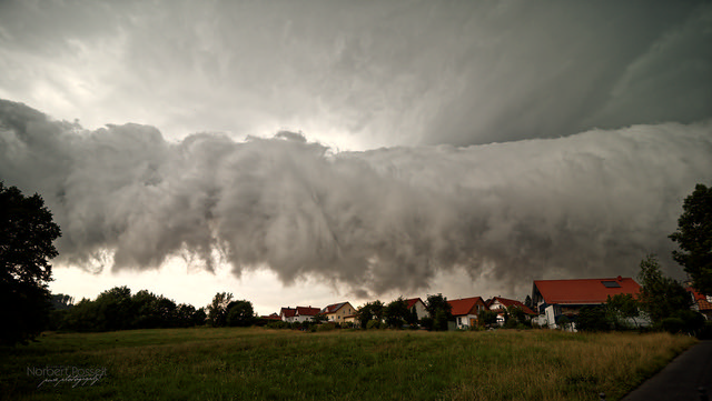 'Roll cloud' over village