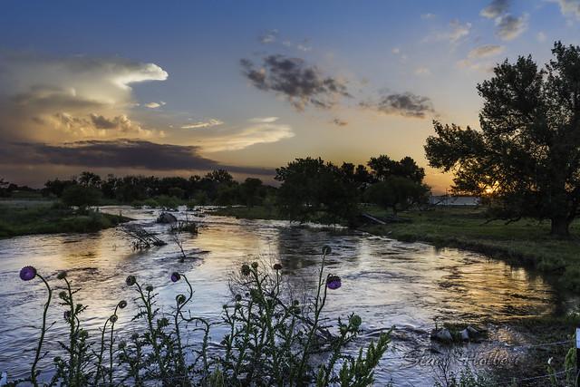 Sunset on the Big Thompson River