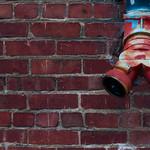 Brick Wall, San Francisco Chinatown, California USA