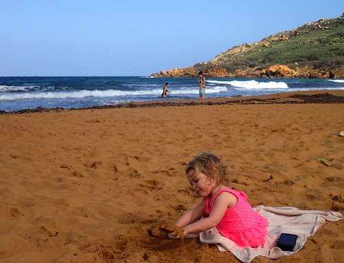 2016 - Europe - Gozo - Beach Day - Paige Playing in Sand | by SeeJulesTravel