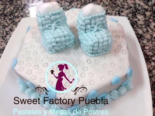 Mesa De Pastel Para Baby Shower.Pastel Zapatitos De Bebe Pastel Para Bautizo O Baby Shower