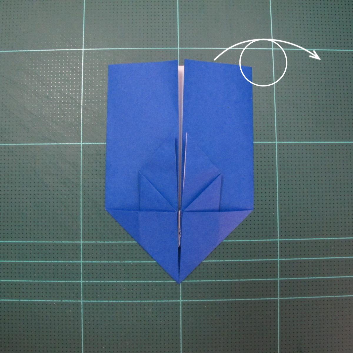 วิธีการพับกระดาษเป็นรูปกระต่าย แบบของเอ็ดวิน คอรี่ (Origami Rabbit)  009