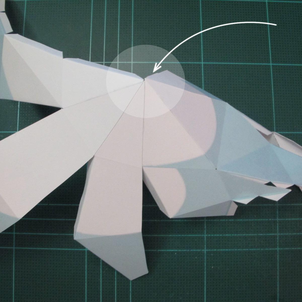 วิธีทำโมเดลกระดาษตุ้กตาคุกกี้รัน คุกกี้รสจิ้งจอกเก้าหาง (Cookie Run Nine Tails Cookie Papercraft Model) 003
