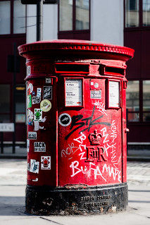 Beaten Up Old Post Box Photo24-0786-Edit-coloured | by MikeDixson