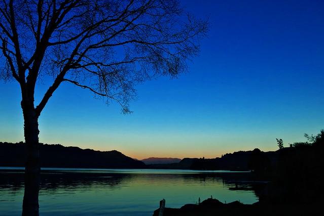 Twilight on Lake Okareka near Rotorua, New Zealand