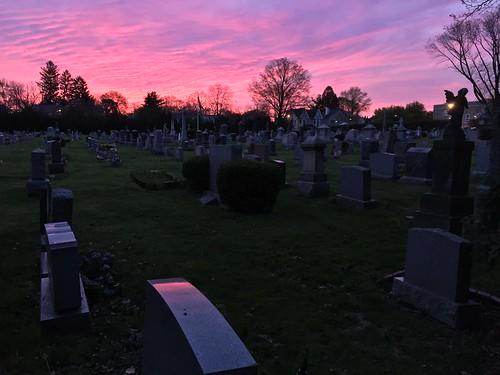 graveyard princeton grave sunrise