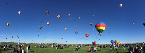 hazboy hazboy1 hot air balloons albuquerque balloon fiesta festival october 2016 new mexico us usa america panorama