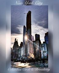 Columbus Circle & Broadway, New York City. Instagram,@PennyPeronto
