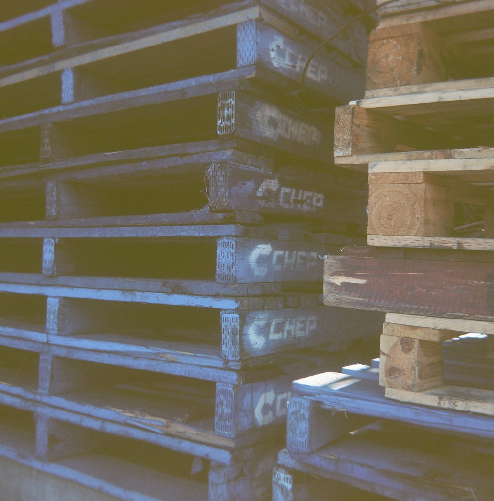 Chep Wooden Pallets | Photographed using the Kodak Brownie C
