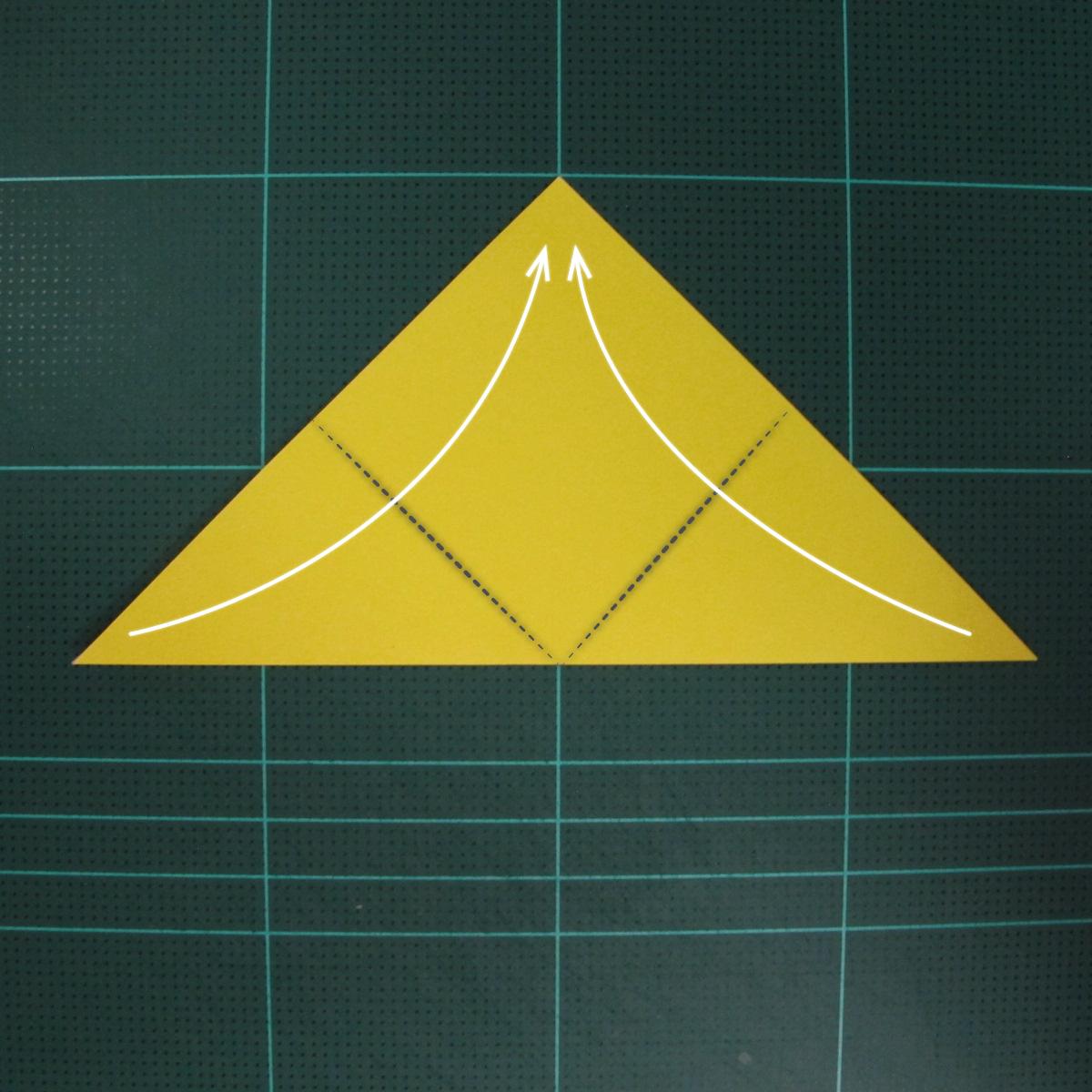 วิธีพับกระดาษเป็นรูปจั้กจั่น (Origami Cicada) 002