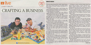 BricksBen - LEGO Benjamin Cheh Jeffrey Kong Brick Artists Singapore - The Straits Times Sunday Times Life (8 June 2014)   by BricksBen LEGO® Creations