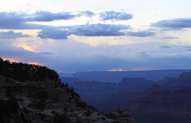 Grand Canyon Pastel Rain Sunset & Blue Canyon
