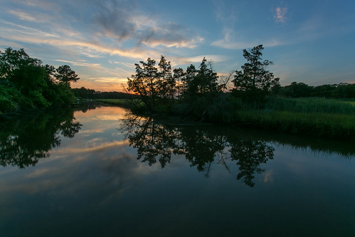 sunset home creek reflections lewes canarycreek