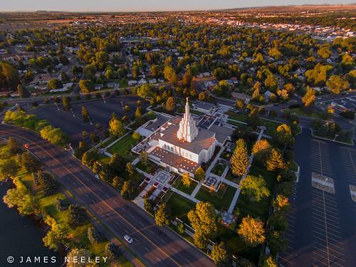 aerialphotography mormontemple ldstemple idahofallstemple jamesneeley