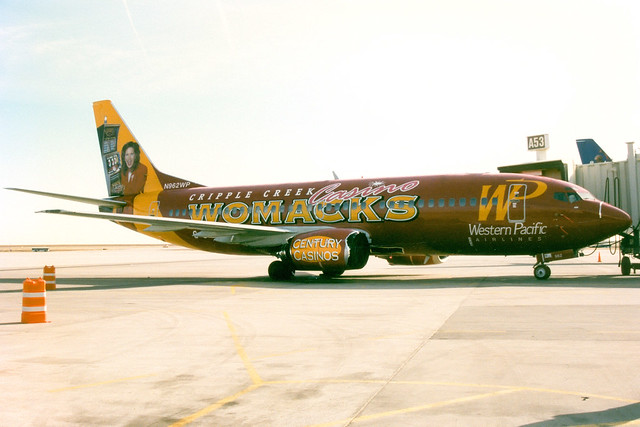 Western Pacific Airlines | Boeing 737-300 | N962WP | Womacks Casino livery | Denver International