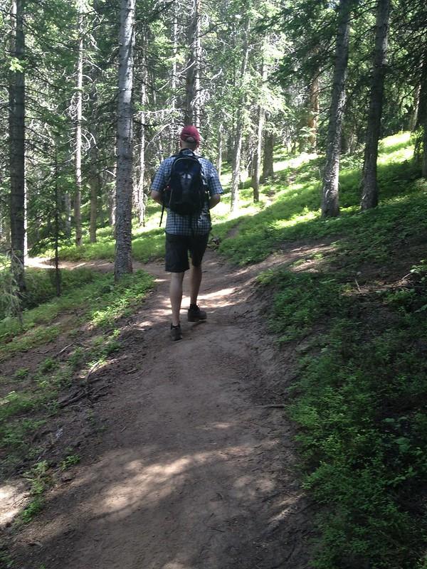 Chris on mountain trail