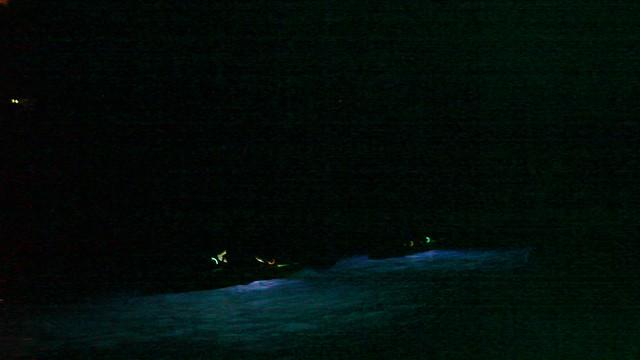 On the night kayak ride