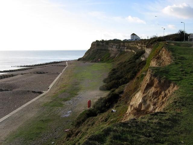 Cliffs at Glyne Gap