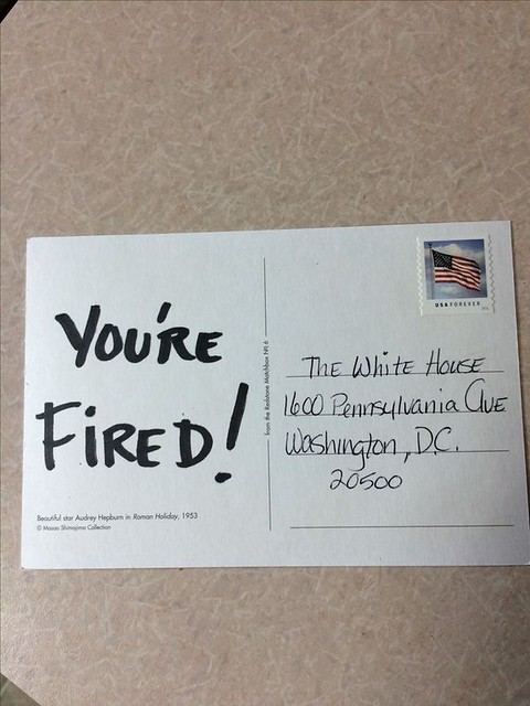 #YoureFired #TheIdesOfTrump #TheIdesOfMarch #Postcard #Postcards -- this one's from #Pinterest