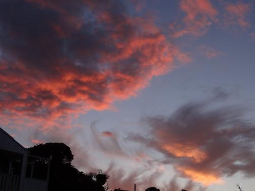 sunset beach new zealand nouvellezélande clouds sky