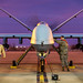 Senior Airman John Hoppe, an MQ-9 weapons journeyman, and Staff Sgt. Timothy Snider, an MQ-9 avionics craftsman, secure an MQ-9 Reaper upon its return to the flightline at Holloman Air Force Base, N.M., Dec. 16, 2016. The squadron supports the 6th Reconnaissance Squadron, as well as the 9th and 29th Attack Squadrons, enabling the graduation of pilots and sensor operators in support of the Air Force's largest formal training unit. (U.S. Air Force photo by J.M. Eddins Jr.)
