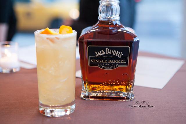 My Bluegrass Shrub and the bottle of Jack Daniel's Single Barrel whiskey