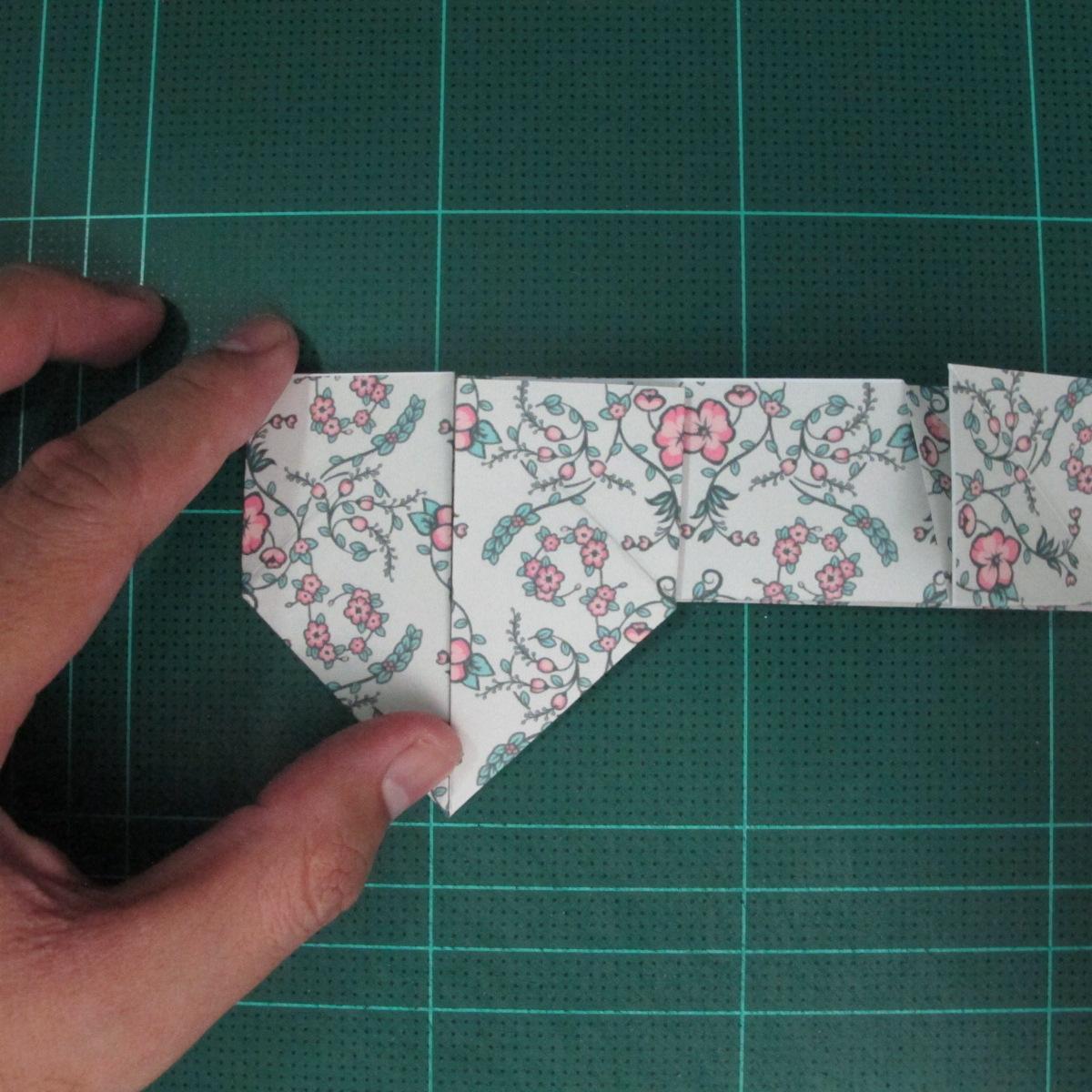 วิธีพับกระดาษรูปหัวใจคู่ (Origami Double Heart)  018