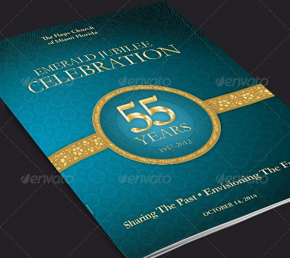 Church Anniversary Program Cover Template A Photo On