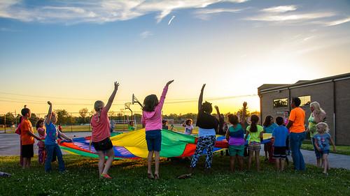 sunset movie play unitedstates indiana screen richmond neighborhood inflatable ymca parachute waynecounty waynet richmondparksrecreation crrichardson