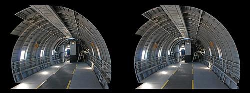 california museum airplane 3d aircraft transport stereo palmdale c46 crosseyedstereo stereographics joedaviesheritageairpark