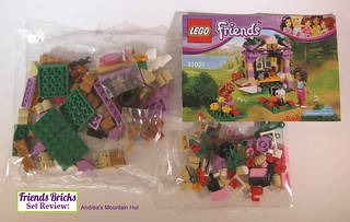 Box contents - Andrea's Mountain Hut Review #41031 for Friends Bricks | by LegoMyMamma