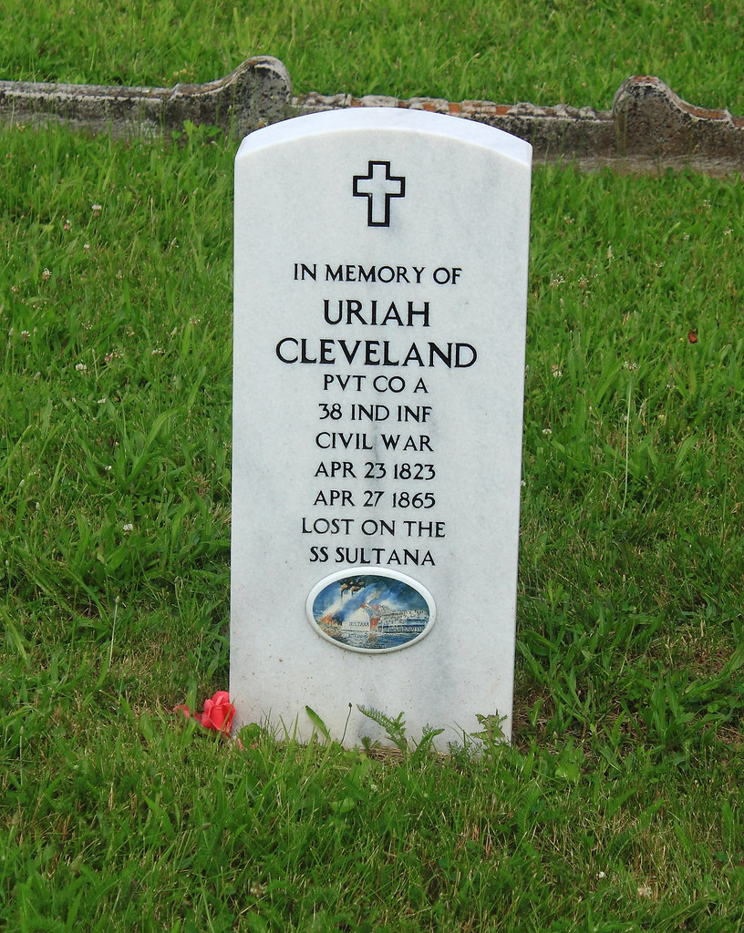Memorial Tombstone for Uriah Cleveland, Civil War Soldier