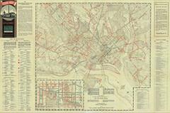 1942 Streetcar Map