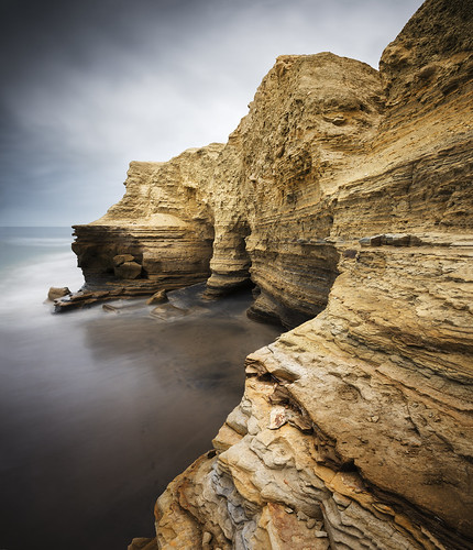 ocean park sunset sea cliff seascape motion blur color beach nature water rock clouds point landscape photography nikon marine san long exposure diego william cliffs formation layer geology loma d800 dunigan