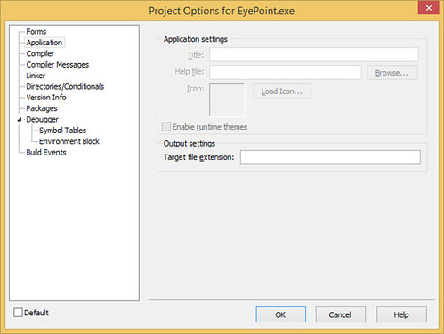 20140508-Delphi-2007--Project-Options--Cannot-Edit-Application-Title-HelpFile-Icon-Theming | by jwpluimers