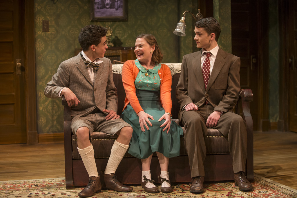 Sebastian W. Weigman (Arty), Linsey Page Morton (Bella), and Alistair Sewell (Jay)