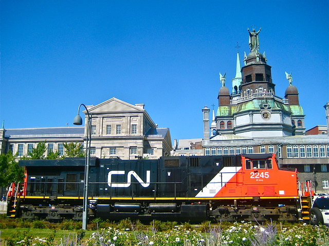 CN 2245 in Old Montreal