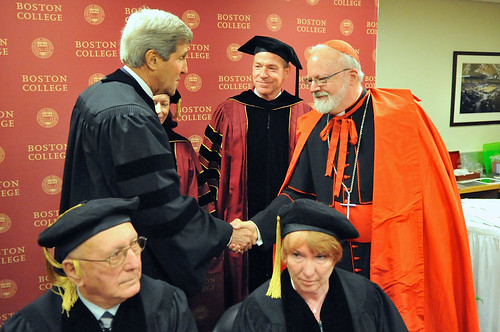 Secretary Kerry Greets Cardinal O'Malley Before Boston College Graduation | by U.S. Department of State