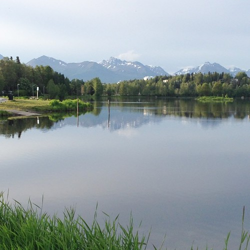 The view from my morning run in Anchorage | by jeffreylcohen