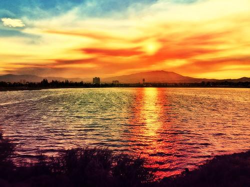 blue sunset orange reflection yellow marina smoke violet july sparks wildfire 2014 scheels sparksmarina sandsfire